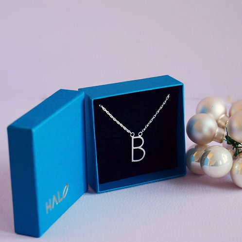 Sterling Silver Initial B Necklace
