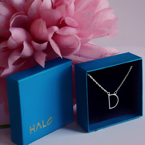 Sterling Silver Initial D Necklace