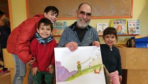 El Julián ens il·lustra amb 'El petit príncep' a l'Hora del Conte