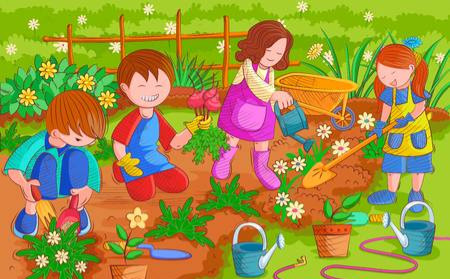 Plantada d'hivern a l'hort de l'escola