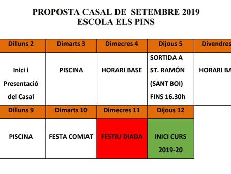 Proposta Casal de Setembre 2019
