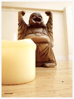 Cork Lotus Yoga:Our laughing Buddha