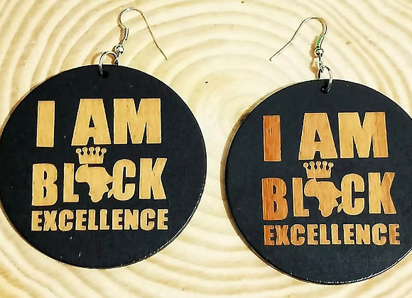 """I Am Black Excellence"", Affirmation Earrings"
