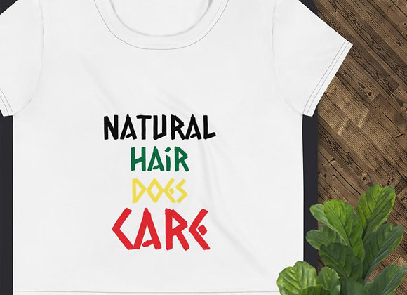 Natural Hair Does Care- Crop Top Tee