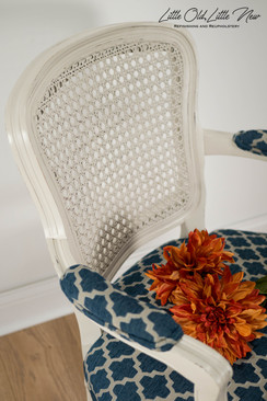 Vintage 70's cane back chair.