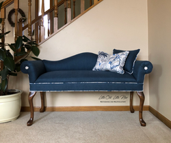Floral/Navy Settee $549