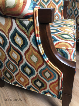 Detail of Mid Century Chairs.