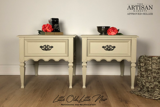 Custom mixed beige nightstands/end tables