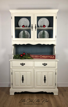 Hutch by Bassett Furniture painted in a custom mixed off-white.
