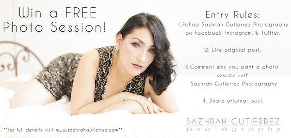 Sazhrah Gutierrez Photography Giveaways