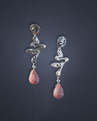 235200 Rhodinite and Sterling Earrings