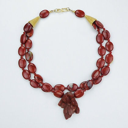 Red Jasper and Hematite Necklace
