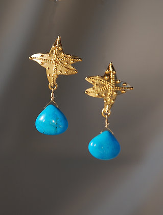 TQGP228054 Turquoise Drop Earrings