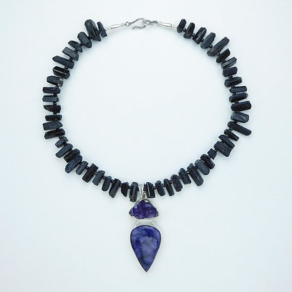 Charoite and Tourmaline Necklace