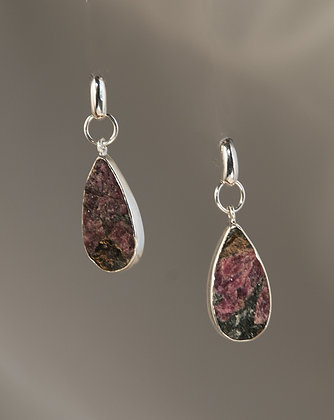 Eudialite and Sterling Earrings