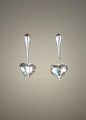 Sterling Heart Earrings