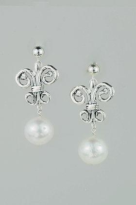 Akoya Pearl and Sterling Silver Earrings