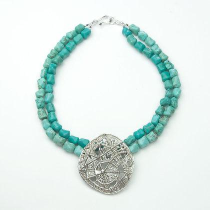 Turquoise and Vintage Israeli Pendnat