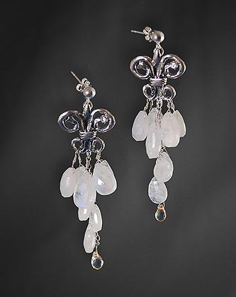 Aurora Borealis Quartz Teardrop Earrings