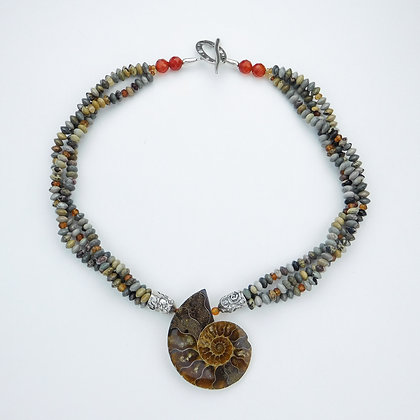 Ammonite and Jasper Necklace