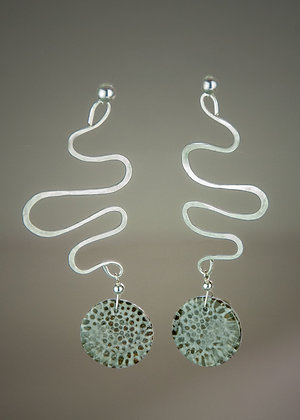 Stingray Coral Earrings