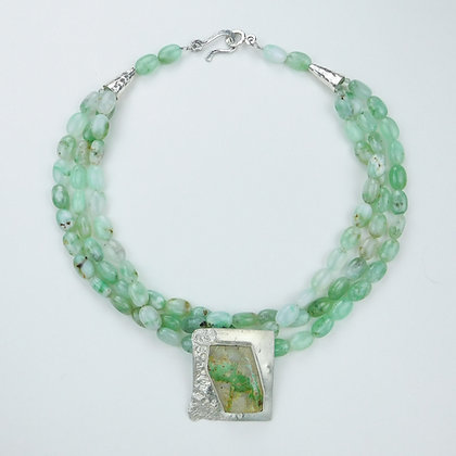 Turquoise and Chrysoprase Necklace