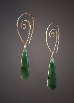 E19853 Jade Earrings