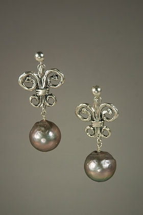 Akoya Pearl with Hand Cast Sterling Silver