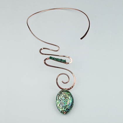 Rose Goldplated Collar with Abalone