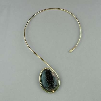 Fossilized Coral Collar