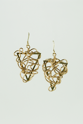 Brass Triangular Earrings