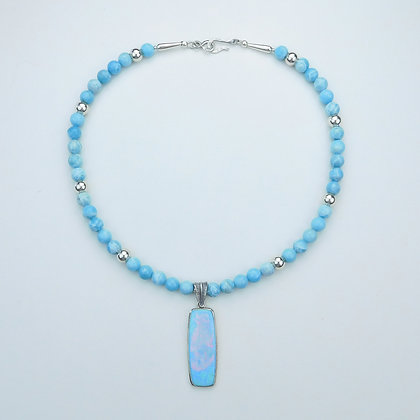 Larimar and Opal Necklace