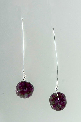 Tourmaline and Sterling Earrings