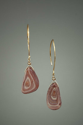 Peppermint Jasper and 22kt Goldplate Earrings