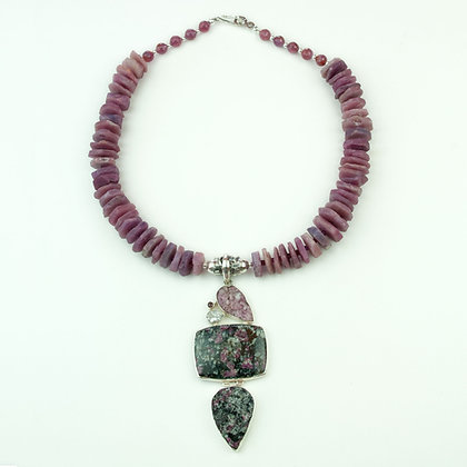 Ruby and Eudialyte Necklace
