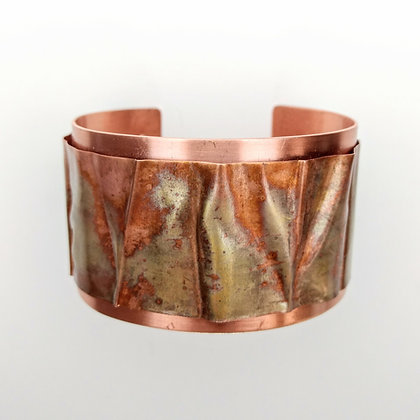 Natural Copper Cuff with Folded Band