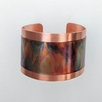 Copper and Flame Paint Cuff Bracelet