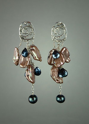 Bronze Colored Pearl Earrings