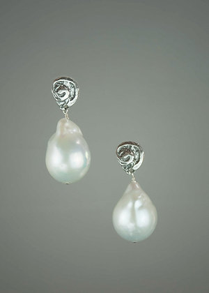 Baroque Pearl with Hand Cast Sterling Silver