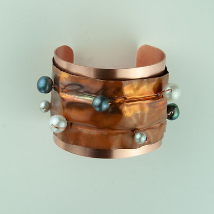 Copper and Pearl Bracelet