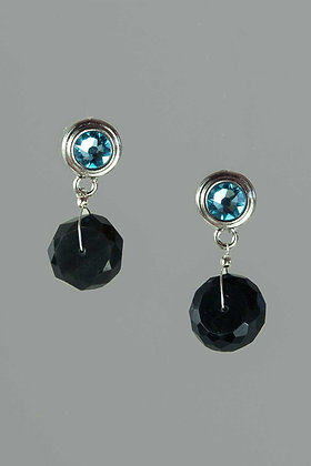 Spinel and Swarovski Crystal Earrings