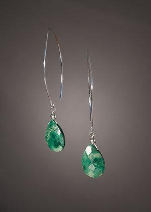WE05268 Chrysocholla-Earrings