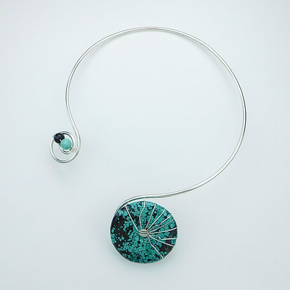 Turquoise Silver Plate Collar