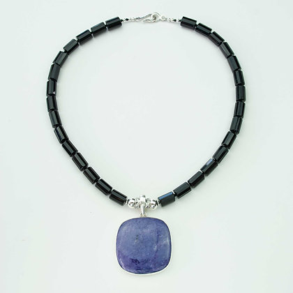 Onyx and Charoite Necklace