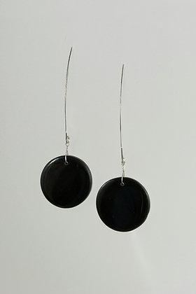 Obsidian and Jasper Earrings