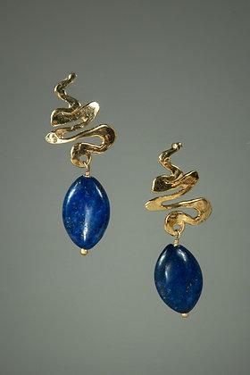 Lapis Lazuli and 18kt Gold Vermeil Hand Cast Findings