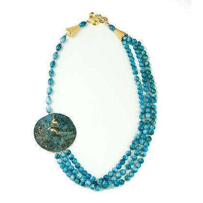 Appatite and Brass Necklace