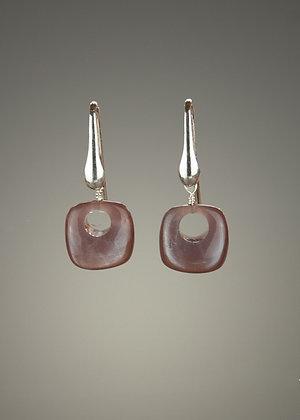 Brown Moonstone Earrings