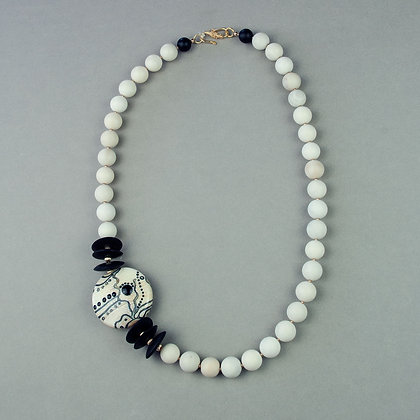 Lampwork and Bone Necklace