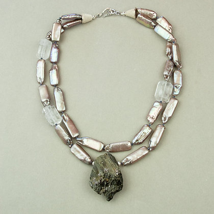 Freshwater Pearl and Tourmaline Necklace